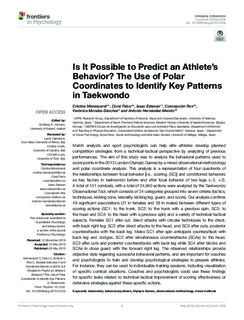 Is It Possible to Predict an Athlete's Behavior? The Use of Polar